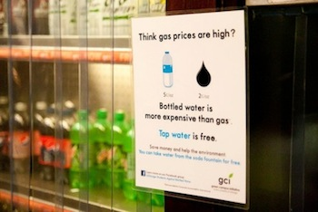 GCI - bottled water gas price sign in Hutch.jpg