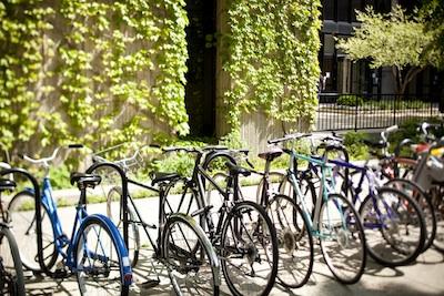 Bikes locked on rack outside Reg.jpg